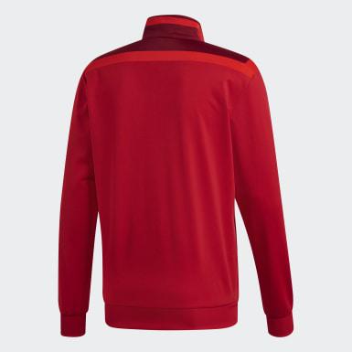 Mænd Træning Rød Tiro 19 Polyester jakke