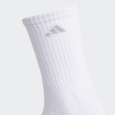 Women's Running White Cushioned 2.0 Crew Socks 3 Pairs