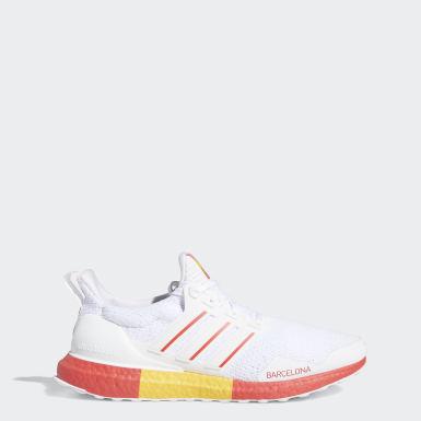 Running White Ultraboost DNA Barcelona Shoes