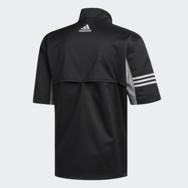 Men Golf Black Climaproof Short Sleeve Jacket