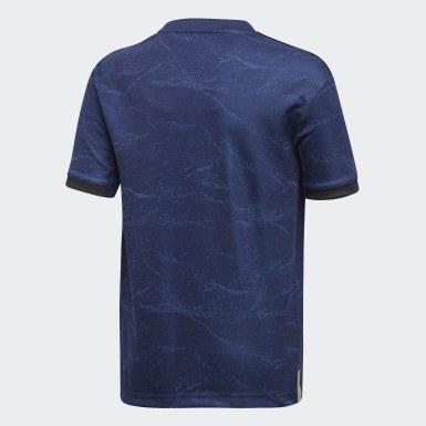 Camisa 2 Real Madrid Azul Meninos Futebol