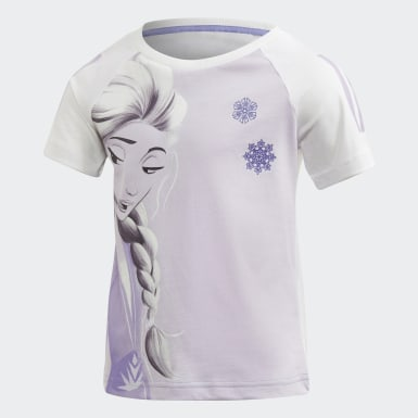Kinder Training Frozen 2 T-Shirt Weiß