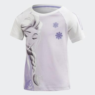 Dívky Trénink bílá Tričko Frozen 2