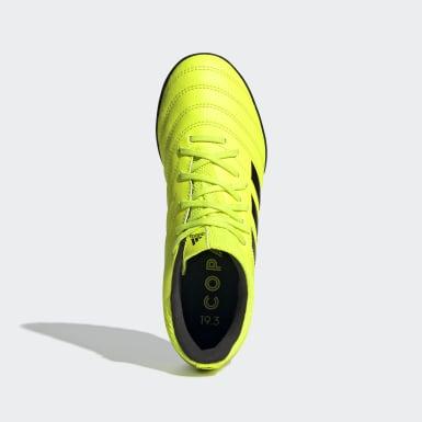 Botas de Futebol Copa 19.3 – Piso sintético Amarelo Criança Futebol