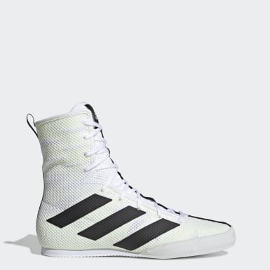 chaussures de boxes femmes blanches cuir adidas