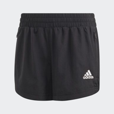 Girls Training Black Woven Shorts