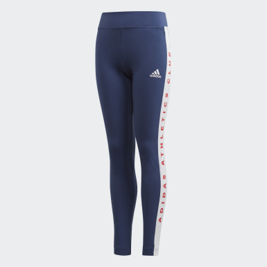 Youth 8-16 Years Athletics Blue adidas Athletics Club Leggings