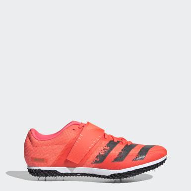 Chaussure Adizero Saut en hauteur. Rose Athlétisme