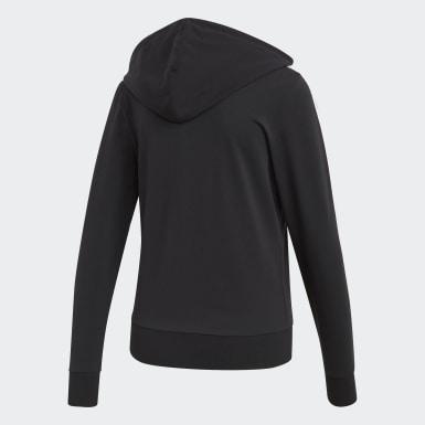 ผู้หญิง ไลฟ์สไตล์ สีดำ เสื้อฮู้ด Essentials 3-Stripes