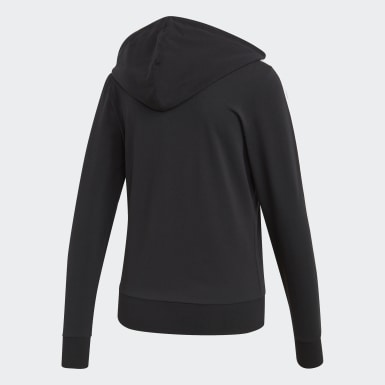 Women Lifestyle Black Essentials 3-Stripes Hoodie