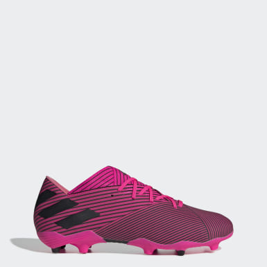 Men Football Pink Nemeziz 19.2 Firm Ground Boots