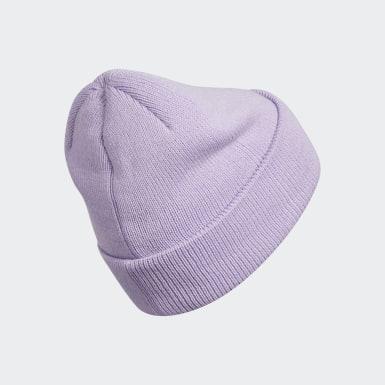 Women's Originals Purple Trefoil Beanie