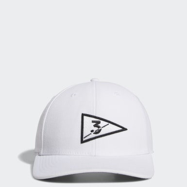 Men's Golf White Golf Flag Hat