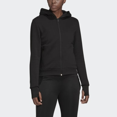 Kadın Athletics Black Must Haves Versatility Kapüşonlu Üst