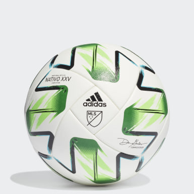 Men's Soccer White MLS Nativo XXV Competition Ball