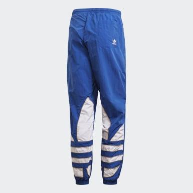 ผู้ชาย Originals สีน้ำเงิน กางเกงแทรคผ้าทอ Big Trefoil Colorblock