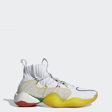 Men Originals White Pharrell Williams Crazy BYW LVL X Shoes