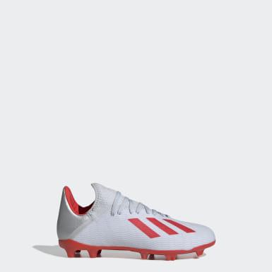 Zapatos de Fútbol X 19.3 Terreno Firme Plateado Niño Fútbol