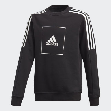 Boys Lifestyle Black adidas Athletics Club Crew Sweatshirt