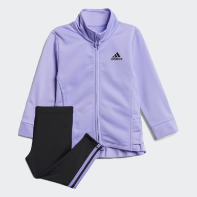 Infant & Toddler Training Purple Ruffle Jacket and Tights Set