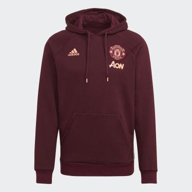 Sweat-shirt à capuche Manchester United Travel Rouge Hommes Football