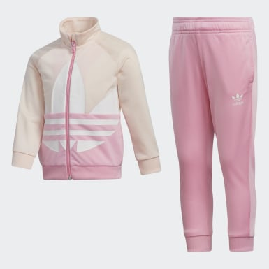 Kids Originals Pink Adicolor Large Trefoil Track Suit