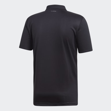 Men Tennis Black 3-Stripes Club Polo Shirt