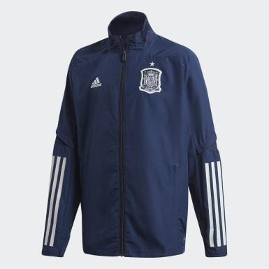 Casaco de Apresentação da Espanha Azul Criança Futebol