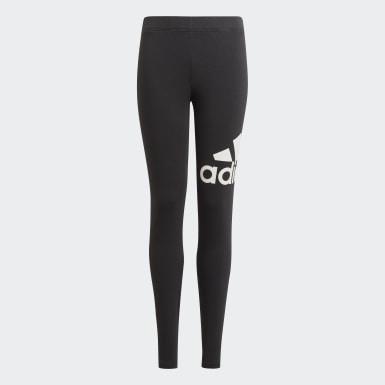 Girls Athletics Black adidas Essentials Leggings