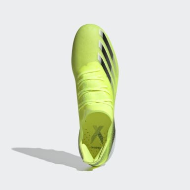 Men's Soccer Yellow X Ghosted.1 Artificial Grass Cleats
