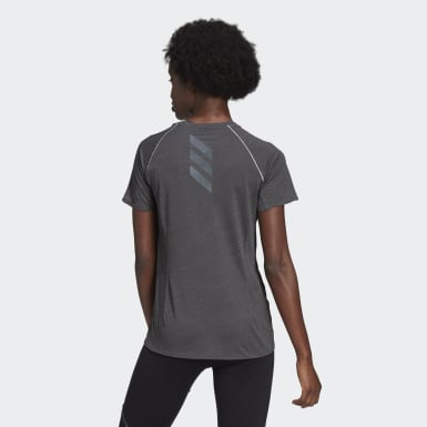 Women Running Grey Runner Tee