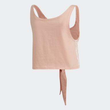 Women Originals Pink Knotted Tank Top