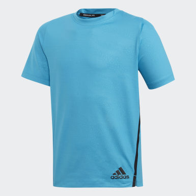 Boys Yoga Blue Primeblue T-Shirt