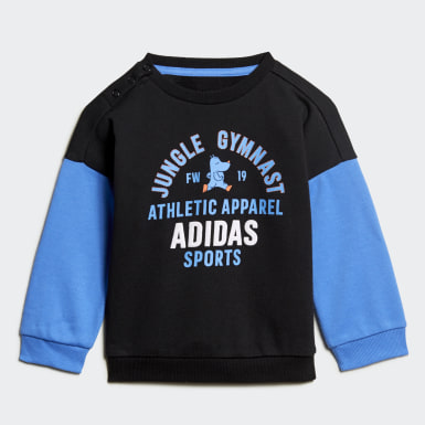 Infant Training Black Graphic Terry Jogger Set