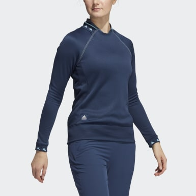 Women Golf Blue Equipment Crew Sweatshirt