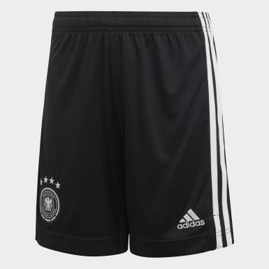 Youth 8-16 Years Football Black Germany Home Shorts