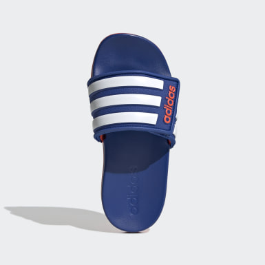 Children Essentials Blue Adilette Comfort Adjustable Slides