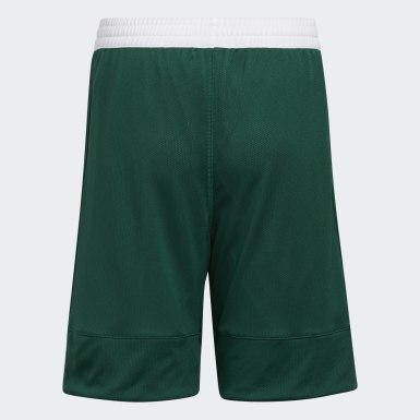 Kids 4-8 Years Basketball Green 3G Speed Reversible Shorts
