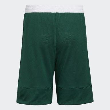 Pantalón corto Reversible 3G Speed Verde Niño Baloncesto
