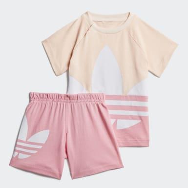 Conjunto Shorts y Polo Trifolio Grande Rosado Niño Originals