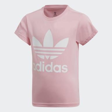Camiseta Trefoil Rosa Niña Originals