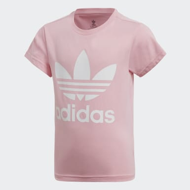 Girls Originals Pink Trefoil Tee