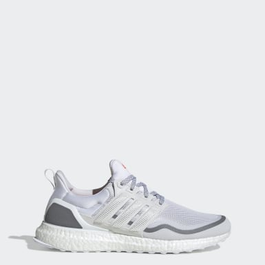 Men Running White Ultraboost Reflective Shoes