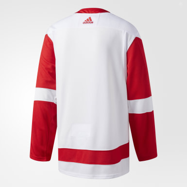 Men's Hockey White Red Wings Away Authentic Pro Jersey