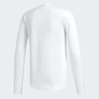 Koszulka z zaokrąglonym dekoltem Climawarm Golf Bialy