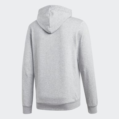Männer Athletics Must Haves Badge of Sport Hoodie Grau