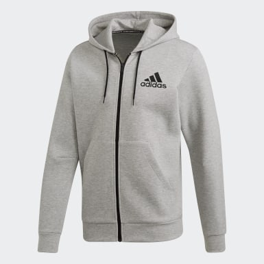 Campera Must Haves Plain Gris Hombre Sport Inspired