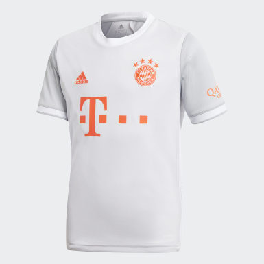 Børn Fodbold Grå FC Bayern 20/21 udebanetrøje