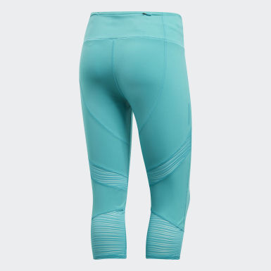 Women Running Turquoise How We Do 3/4 Tights