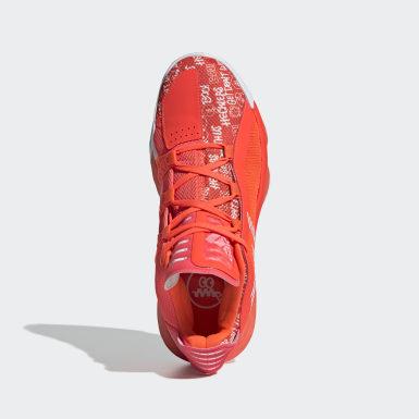 Sapatos Dame 6 Laranja Basquetebol